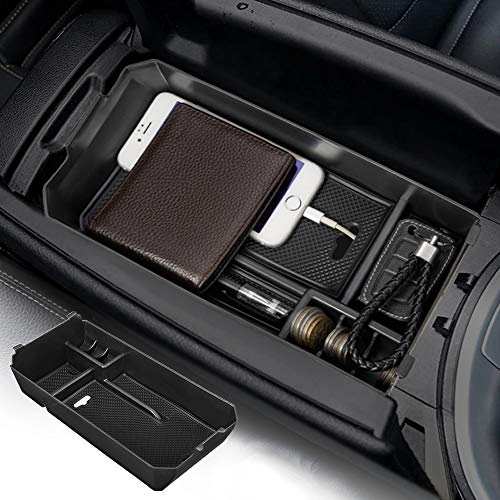JOYTUTUS Center Console Tray Armrest Storage Box Container Compatible with C GLC Class W205 2015-2019 Center Console Organizer