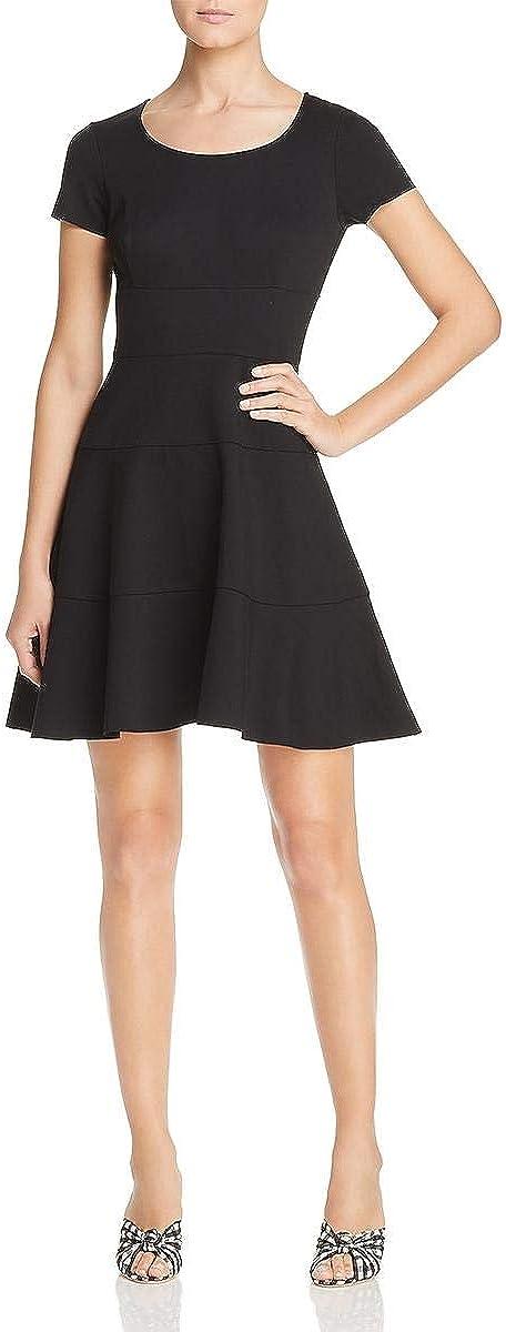 Three Dots Women's Hby5882 Ponte S/S Seamed Dress