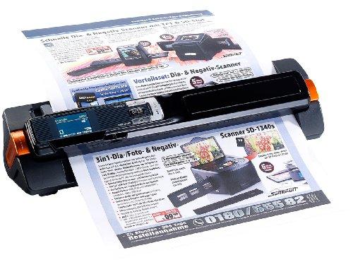 Somikon 2in1-Scanner: mobiler Handscanner mit Dockingstation 900 DPI