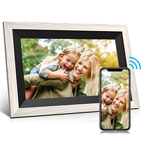 Jeemak Digitaler Bilderrahmen 12,5 Zoll WLAN Fotorahmen IPS Touchscreen High Resolution (1920 x 1080) Fotos und Video können jederzeit und von überall(32GB)