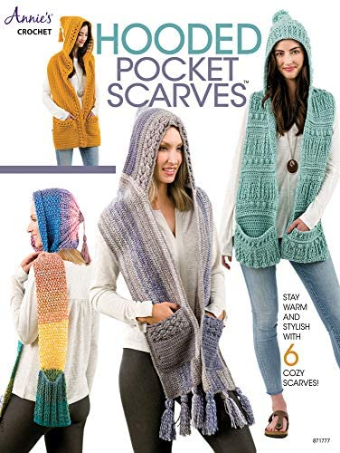 Hooded Pocket Scarves Annie s Crochet product image