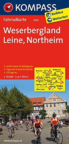 KOMPASS Fahrradkarte Weserbergland - Leine - Northeim: Fahrradkarte. GPS-genau. 1:70000 (KOMPASS-Fahrradkarten Deutschland, Band 3063)