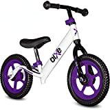 Purple (4LBS) Aluminum Balance Bike for Kids and Toddlers - 12' No...