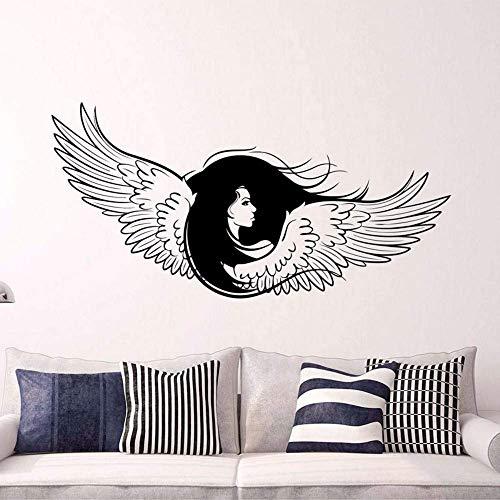 Memorial Guardian Inspirational Angel Wings Decal Pasgeboren Vrouw Grote Vleugels Vinyl Sticker Gotische Engel voor Woonkamer 85 * 42 cm