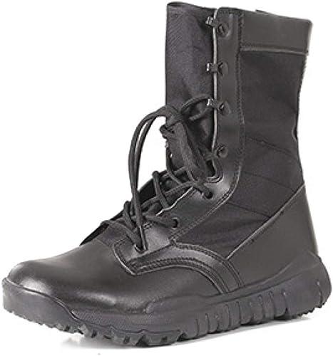 DSX Chaussures de Marche pour Hommes, Hommes, Chaussures de Randonnée à Séchage Rapide, Bottes de Combat Ultra-Légères à Fermeture éclair, Bottes de Combat, Bottes, 36-46, Noir, 45EU  Nouvelle liste