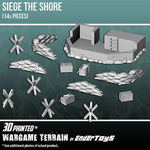 EnderToys Siege the Shore, Terrain Scenery for Tabletop 28mm Miniatures Wargame, 3D Printed and Paintable