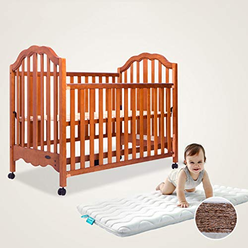 Lowest Price! YRC Solid Wood Crib Game Bed Sofa Bed, Detachable Side Rails for Easy Splicing of Larg...