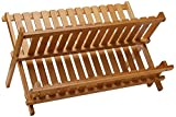 Lipper International 8813 Bamboo Wood Folding Dishrack, 17-3/4' x 13'...