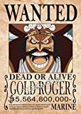 Retro Wanted Bounty Anime Dibujos Animados Comics Manga Pirate Movie One Piece Gold Roger Lienzo Pintura Arte de la Pared Poster Prints Kids Boy Fans Dormitorio Decoración para el hogar