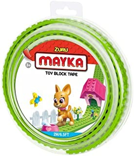 MAYKA Toy Block Tape, 2 stud, 6.5ft, Light Green, non-marking
