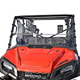 Clearly Tough Honda Pioneer 1000/1000-5 Windshield - Full Folding - Scratch Resistant - The Ultimate in Side by Side Versatility! Premium Polycarbonate w/Hard Coatmade in America!!