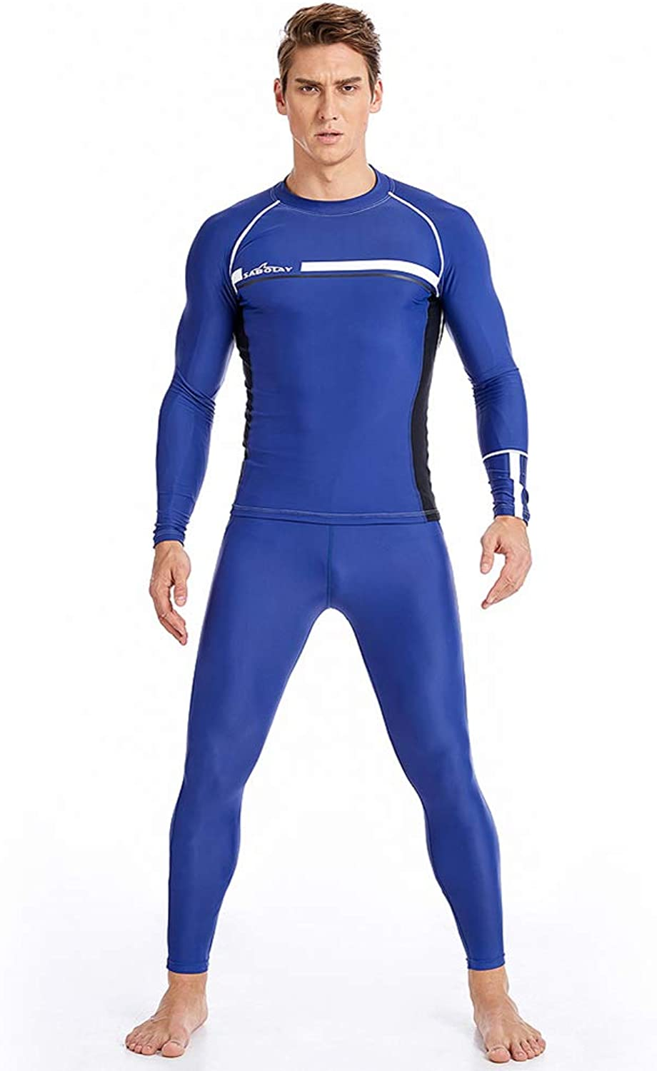 Men's Wetsuits Plus Size Long Sleeve Diving Suits Sunscreen Jellyfish Clothes QuickDry Tights Swimwear for Scuba Swimming Surfing Snorkeling