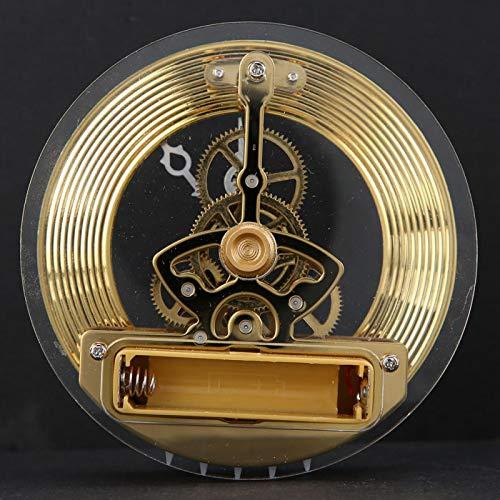 Reloj de cuarzo Reloj incorporado Números romanos negros resistentes Lente de plástico transparente duradero Ideal para hacer manualidades o reemplazar caras de relojes antiguos