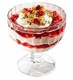 Topkapi Flamingo – Lot de 6 coupes à glace/dessert/sundae/crème glacée Utilisables comme verres à cocktail