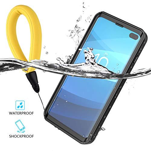 Custodia Impermeabile per Samsung Galaxy S10 Plus, IP68 Certificato Outdoor Waterproof Cover impermeabile Antiurto antipolvere Antigraffio 360 Protezione Full Sealed Caso subacquea Nero