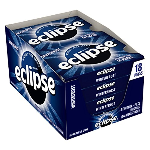 Eclipse Winter Frost Sugarfree Gum, 18 Piece (Pack of 8)