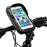 runhua Bolsa Bicicleta Manillar, Soporte Teléfono para Bicicleta Impermeables 360° Rotación, Bolsa Movil Bicicleta para Teléfono Inteligente por Debajo de 6 Pulgadas
