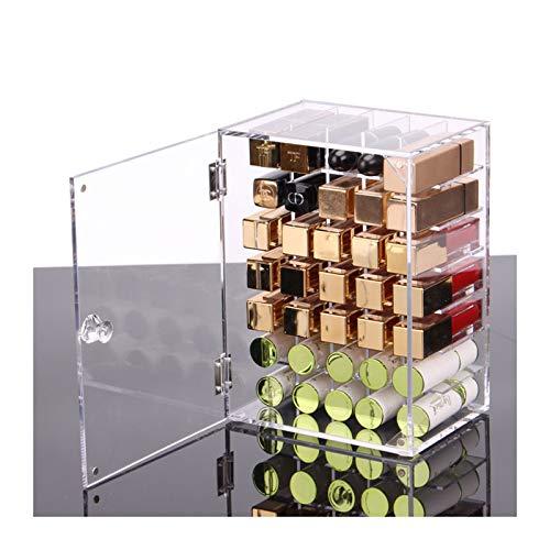 Estante de la joyería Barras de labios Soporte Organizador - Gloss organizador del almacenaje de 35 rejillas de exhibición de acrílico brillo de labios cosmética Párese Contador for Dresser encimera /