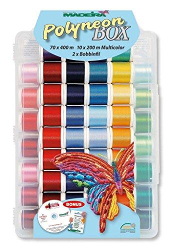 MADEIRA Polyneon Box Nr.8085, Stickgarn für Stickmaschine