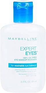 Maybelline Expert Eyes 100% Oil Free Eye Make-Up Remover, 2.3 oz (Pack of 2)