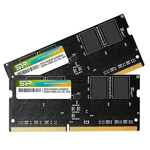 シリコンパワー ノートPC用メモリ DDR4-2666(PC4-21300) 16GB×2枚 260Pin 1.2V CL19 Mac対応 永久保証 SP03...