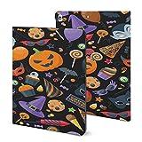 Étui coloré pour iPad 2020 (10,2'), motif sans couture coloré avec porte-crayon pour fête...