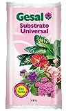 GESAL Substrato Universal, Óptimo Crecimiento de la Planta, con turba, 10 L, 45x6x25 cm, 2635104011