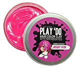 Play 'Do Temporary Hair Color Bright Neon Pink, Hair Wax, Hair Clay, Mens Grooming, Pomade, Pink hair dye(1.8 ounces)