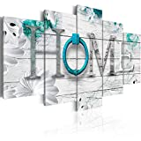 Dreamy Home Decoration Large 5 Panels Turquoise Canvas Print Painting Modern Wall Art Decor 60' W x 30' H