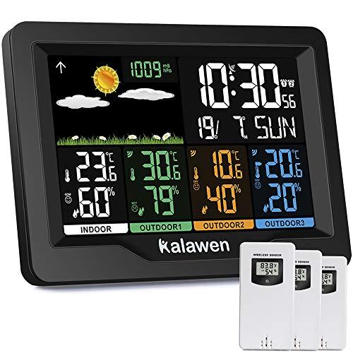 Kalawen Station météo avec capteur extérieur intérieur et ex