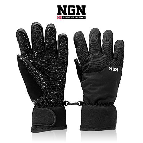 NGN Skihandschuhe passend für Herren und Damen | Snowboard | Outdoor | wasserdicht | Thermo-Handschuhe schwarz | Winter Gloves | Handschuh | Women | Men | Herrenhandschuh | damenhandschuh | Winter