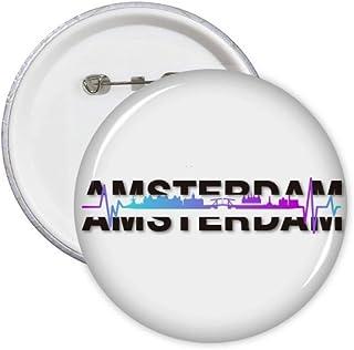 City Radio Amsterdam Building Pin Badge Badge Badge Emblème Accessoire Décoration 5pcs