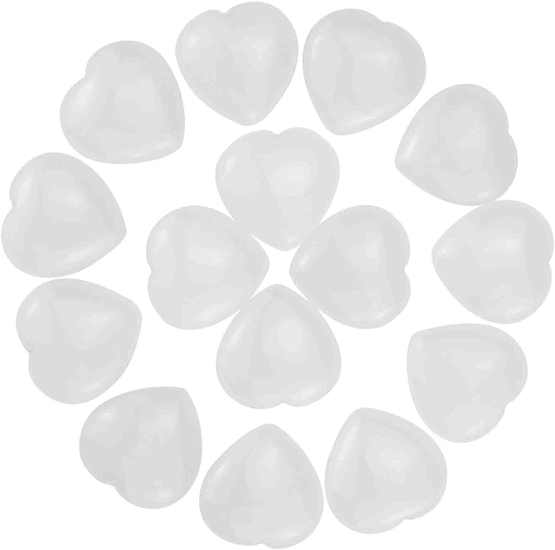 Marrywindix 15 New mail order Packs Las Vegas Mall 0.8 Inch Natural White Crystal Jade Healing