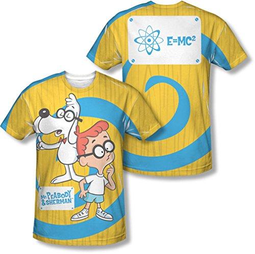 Mr Peabody & Sherman - Herren-Erklärung (vorne / hinten Print) T-Shirt, XXX-Large, White