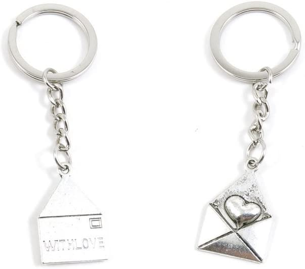 50 x Keychain Time sale Keyring Key Ring X5JZ5 Jewelry Love Chain Findings Surprise price