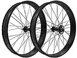 "26 Inch Rims & Wheels - Flying Horse 26"" x 3"" Coaster Brake Fat Tire Bicycle Rim Set (Black)"