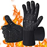 AOMEES BBQ Gloves, Oven mitts Heat Resistant Grill Gloves Universal Size
