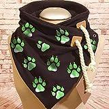 Vcnhln Paw Animal Print Bufanda de Invierno para Mujer Bufanda con cordón Cuello Grueso Banda para el Cabello Caliente Turbante Chal para Mujer
