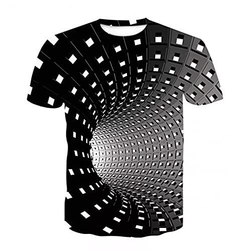 Unisex 3D Druckten Sommer-beiläufige Kurze Hülsen-T-Shirts Swirl Kurzarm T-Shirt Herren T-Shirt Herren Casual Tops T-Shirts Fashion O-Neck Large Size Streetwear-XL