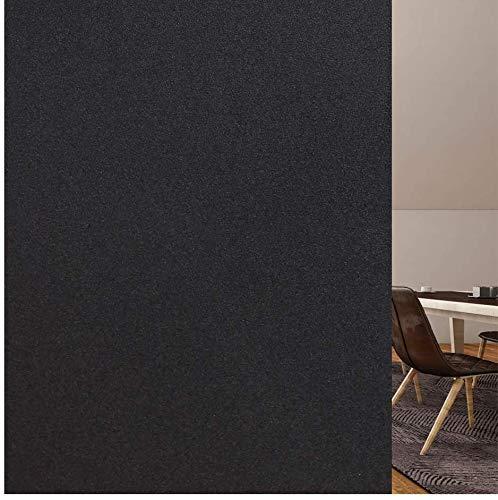 rabbitgoo Fensterfolie Sonnenschutzfolie Sichtschutzfolie Blickdicht selbstklebend Folie Fenster Scheibenfolie Anti-UV Statische Hitzeschutzfolie Für Bad, Büro, Wohnzimmer schwarz