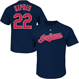 Outerstuff Jason Kipnis Cleveland Indians MLB Majestic Boys Youth 8-20 Navy Official Player Name & Number T-Shirt
