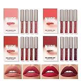 Knowoo 16 Colors Matte Liquid Lipstick Set Matte Long-Lasting Non-Stick Cup Fadeless Nonstick Cup Metallic Lip Gloss Set Lips Cosmetic for Women Girls