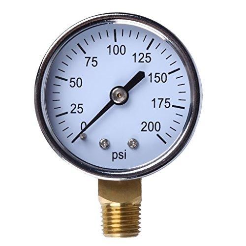 oshhni 0-200psi Auto Car-Styling Meter Vehículo Medidor de Presión de Neumáticos Dial