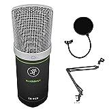 Mackie EM-91CU USB Condenser Microphone Bundle with Mic Boom Scissor Arm Stand & Pop Filter