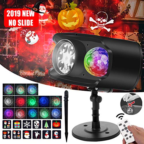 Christmas Light Projector, Bawoo 2019 Upgraded 2 in 1...