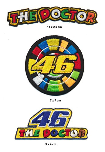 The Doctor 46 Aufnäher Aufbügler Patch 3 Stück Rossi Moto GP TURBOVERSAND