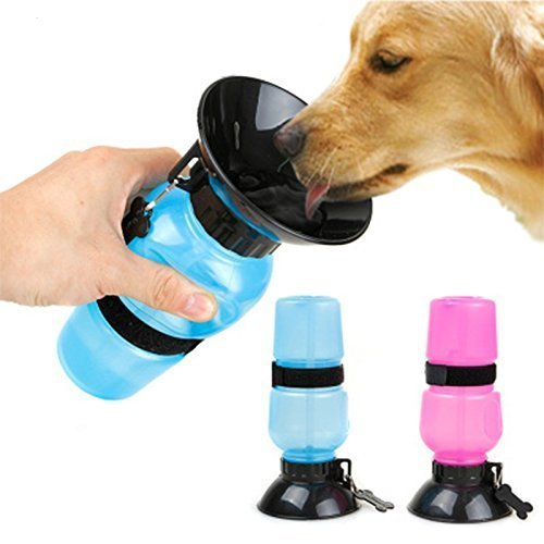 HIGHWAVE AUTODOGMUG Leak-Tight 22oz, Portable Dog Water Bottle for Walking Hiking and Traveling, BPA-Free Materials, Patented Leak-Proof Design (Soft Pink)