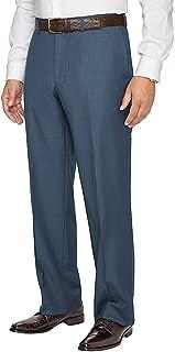 Men's Super 120s Sharkskin Flat Front Suit Pant