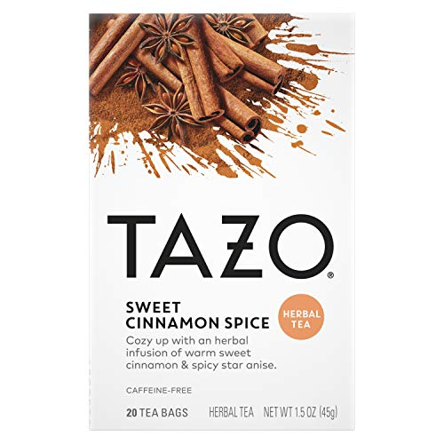 Tazo Sweet Cinnamon Spice Herbal Tea 20 Count
