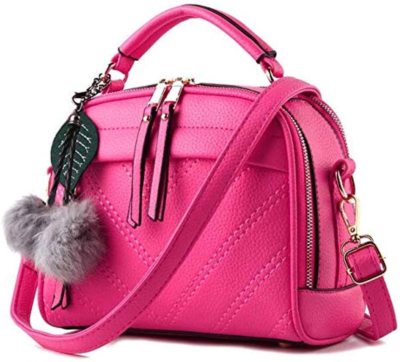 DJBMENG Mode Neue Handtaschen Hohe Qualitt Pu-Leder Frauen Tasche Retro England Medium Bagsleisure Wild Hairb Schulter Messenger Weiblichen Beutel